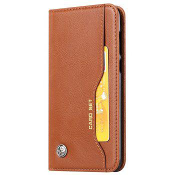 Premium Luxury  Wallet Case Cover for Huawei P Smart / Enjoy 7S  Flip Pu Leather - BROWN
