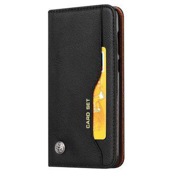 Premium Luxury  Wallet Case Cover for Huawei P Smart / Enjoy 7S  Flip Pu Leather - BLACK