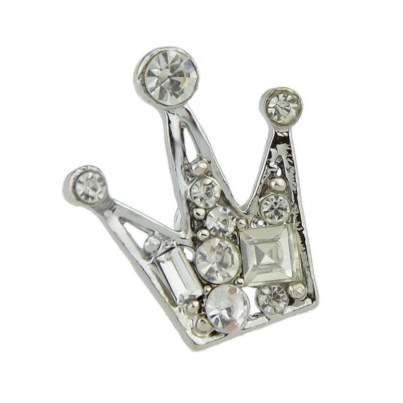 Rhinestone Crown Brooch High Quality Women Jewerlry - SILVER