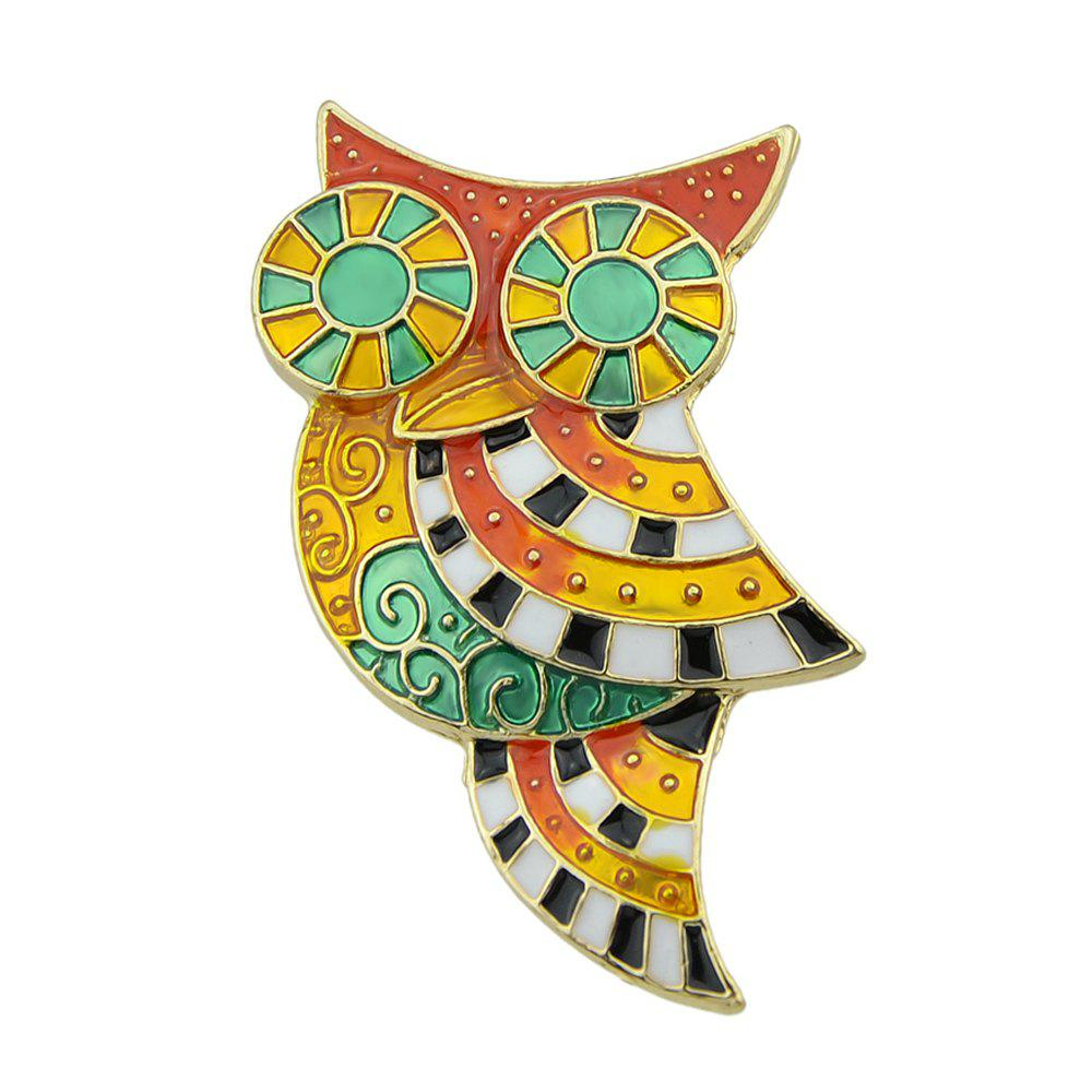 Colorful Enamel Lovely Owl Brooches for Women high quality vintage classic new bronze colorful enamel owl pocket watch women necklace with chain free shipping p31
