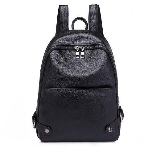 Trend Casual Travel Backpack - BLACK