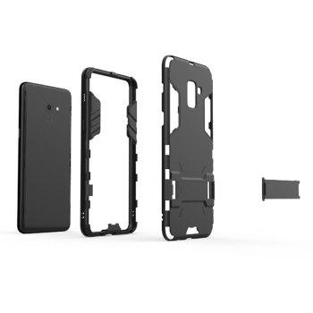 Cover Case for Samsung Galaxy A8 Plus Shock Resistant Armour Hard - BLACK