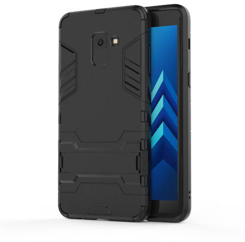 Cover Case for Samsung Galaxy A8 2018 Hock Resistant Armour Hard - BLACK