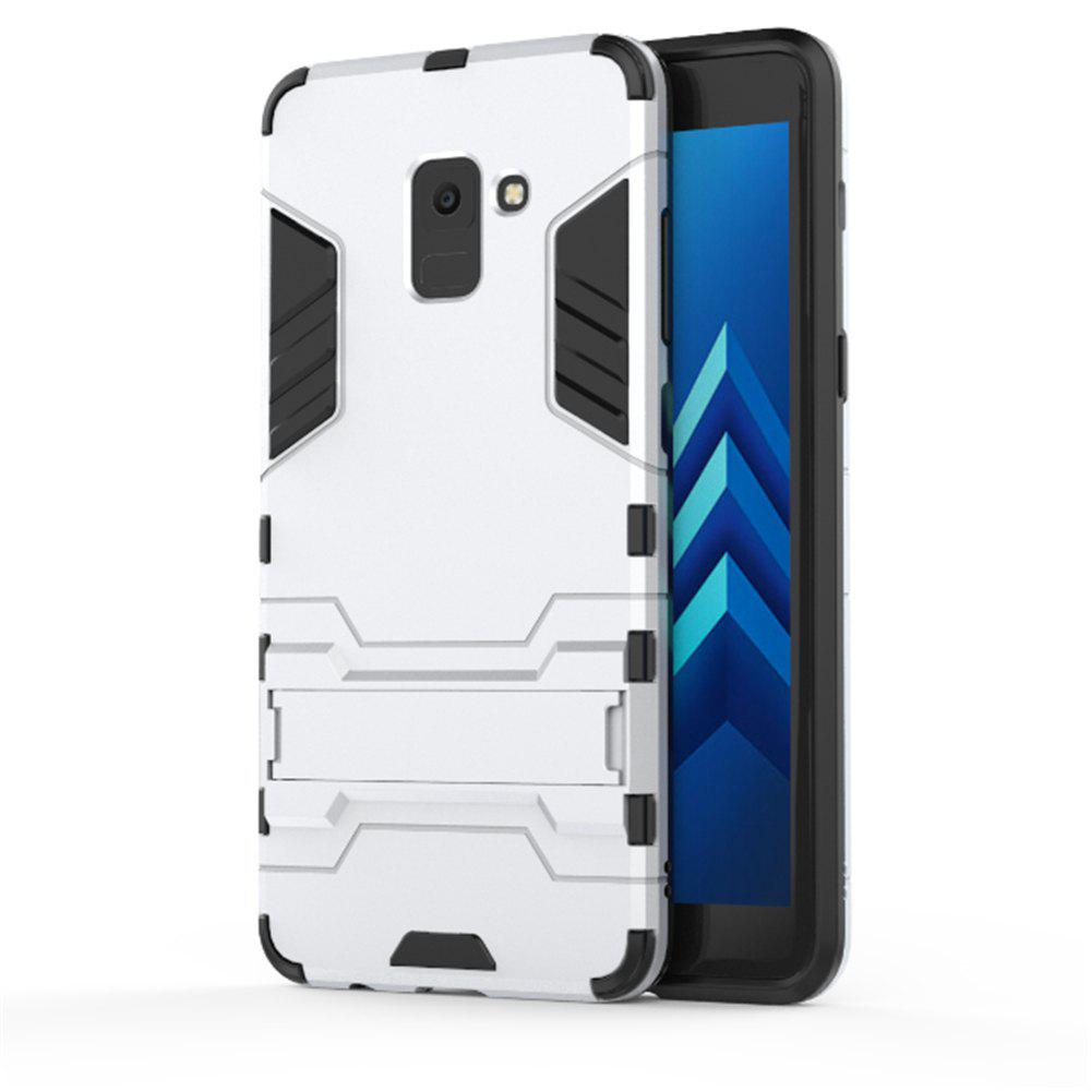 Cover Case for Samsung Galaxy A8 2018 Hock Resistant Armour Hard - SILVER