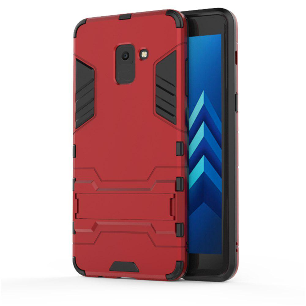 Cover Case for Samsung Galaxy A8 2018 Hock Resistant Armour Hard - RED WINE