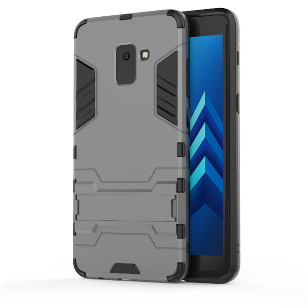 Cover Case for Samsung Galaxy A8 2018 Hock Resistant Armour Hard - GRAY