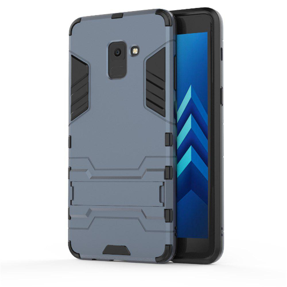 Cover Case for Samsung Galaxy A8 2018 Hock Resistant Armour Hard - BLUE GRAY