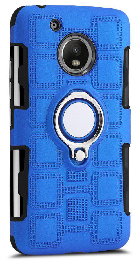 Cover Case for Moto G5 Ring Dual Heavy Duty PC TPU Resistent - SAPPHIRE BLUE