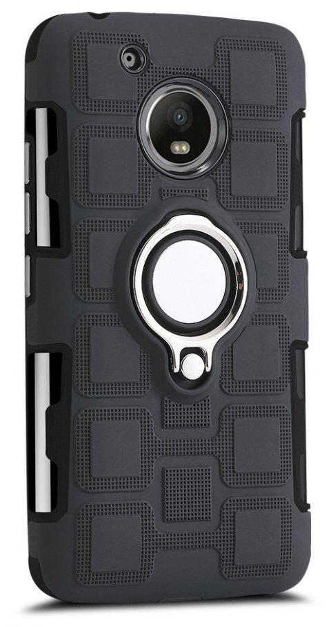 Cover Case for Moto G5 Ring Dual Heavy Duty PC TPU Resistent - BLACK