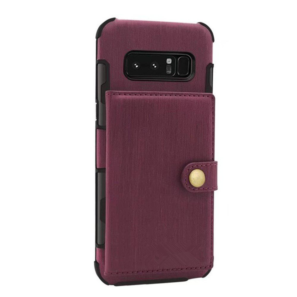Cover Case for Samsung Galaxy Note 8 Retro PU Card Holders  Phone Shells - RED WINE