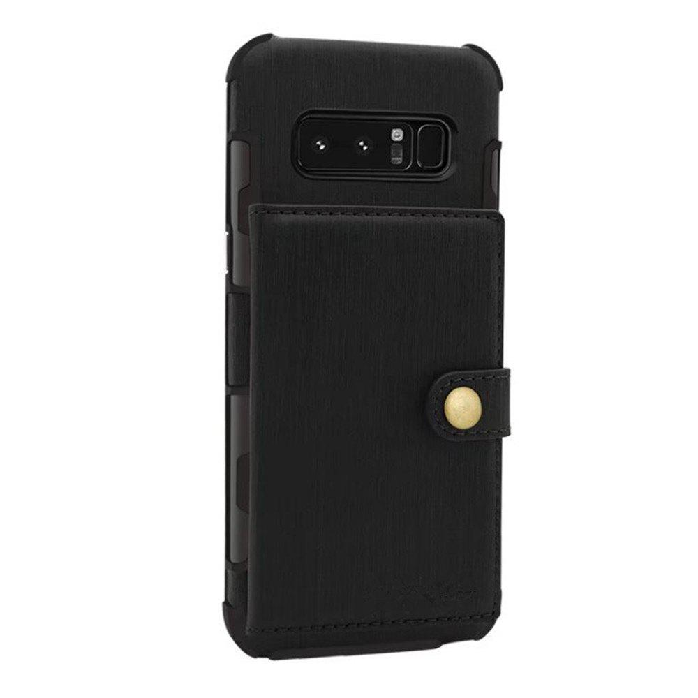 Cover Case for Samsung Galaxy Note 8 Retro PU Card Holders  Phone Shells - BLACK