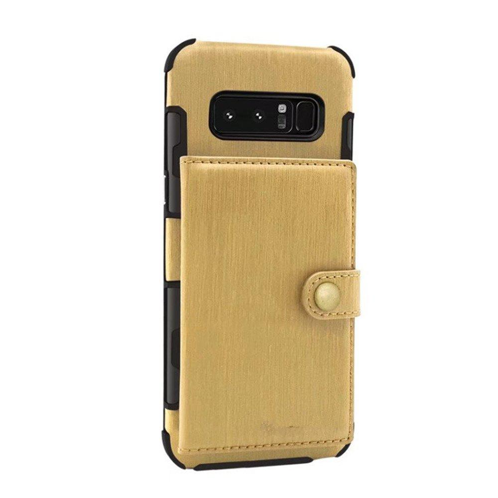 Cover Case for Samsung Galaxy Note 8 Retro PU Card Holders  Phone Shells - GOLDEN BROWN