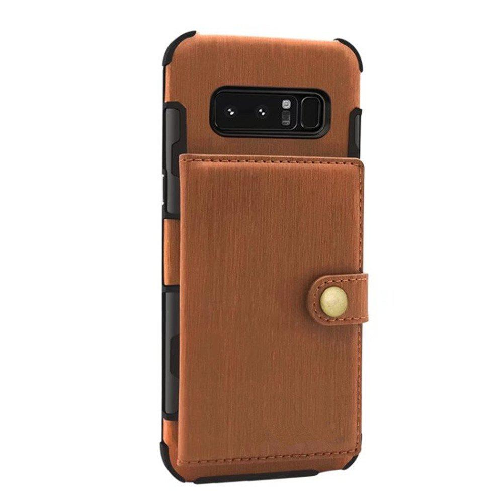 Cover Case for Samsung Galaxy Note 8 Retro PU Card Holders  Phone Shells - LIGHT BROWN