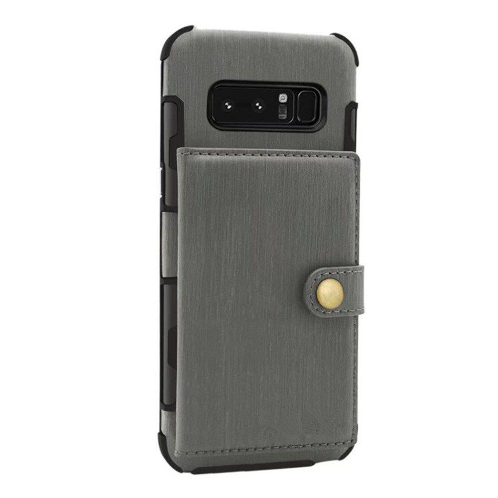 Cover Case for Samsung Galaxy Note 8 Retro PU Card Holders  Phone Shells - SAGE GREEN