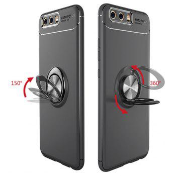 Cover Case for Huawei P10 Plus Ring stealth Kickstand 360 Degree Rotating Grip - BLACK