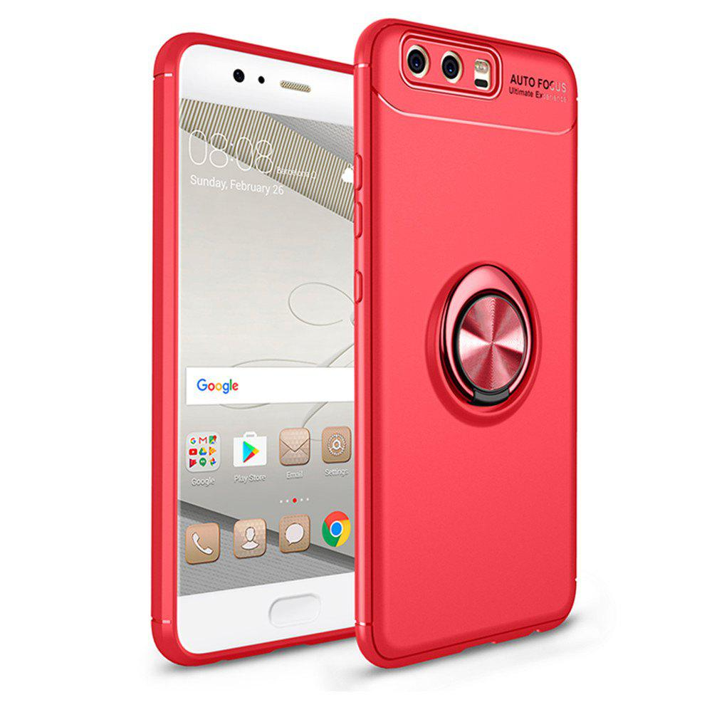 Cover Case for Huawei P10 Plus Ring stealth Kickstand 360 Degree Rotating Grip - RED