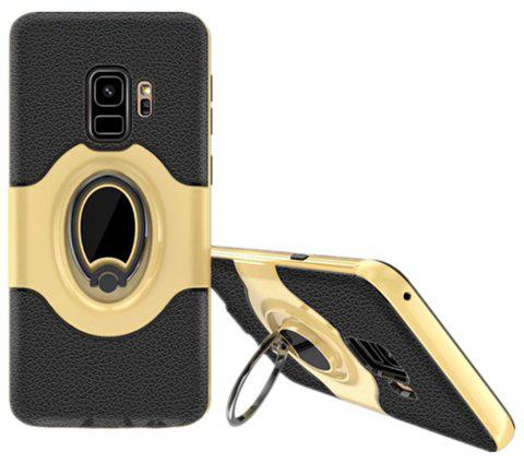 Cover Case for Samsung S9 Stand Magnetic Suction Bracket Finger Ring Armor - GOLD