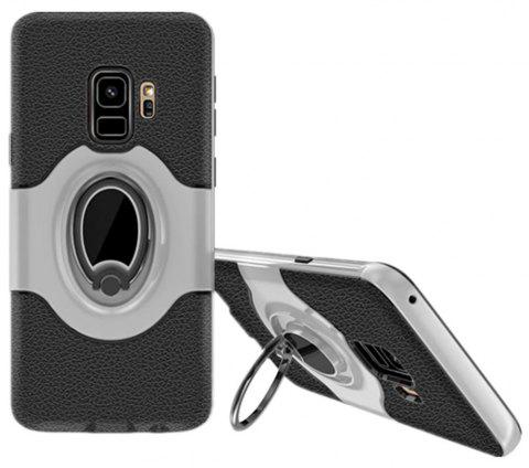 Cover Case for Samsung S9 Stand Magnetic Suction Bracket Finger Ring Armor - GRAY