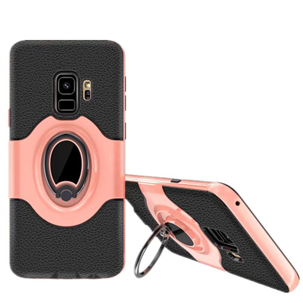 Cover Case for Samsung S9 Stand Magnetic Suction Bracket Finger Ring Armor - ROSE GOLD