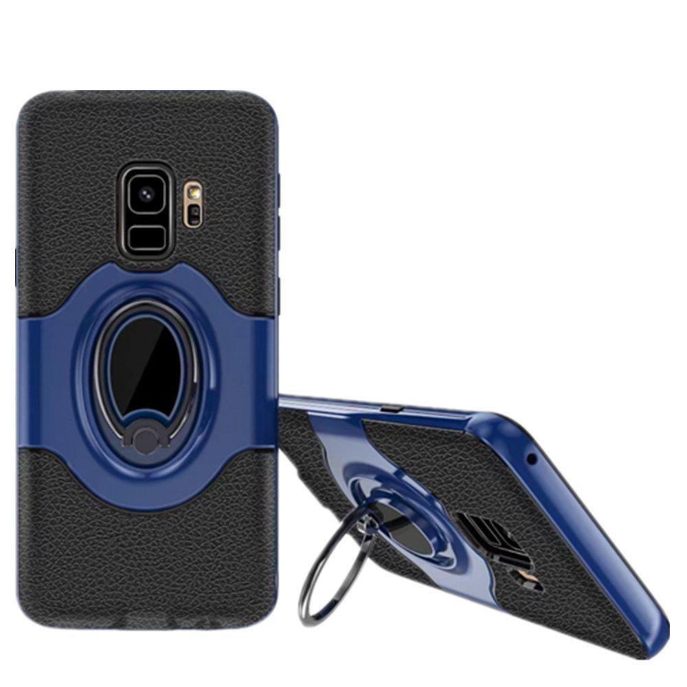 Cover Case for Samsung S9 Stand Magnetic Suction Bracket Finger Ring Armor - BLUE