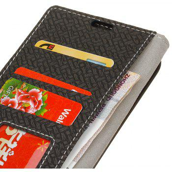 Cover Case for MOTO G4 Play Braided Pattern PU Leather Wallet - BLACK