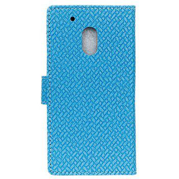 Cover Case for MOTO G4 Play Braided Pattern PU Leather Wallet - SKY BLUE