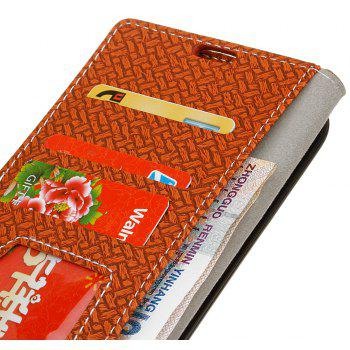 Cover Case for MOTO G4 Play Braided Pattern PU Leather Wallet - BROWN