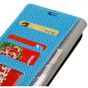 Cover Case for MOTO G5  Braided Pattern PU Leather Wallet - SKY BLUE
