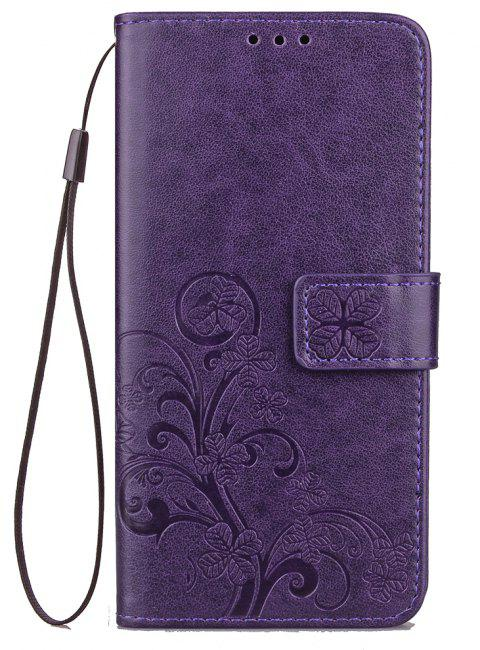 Flip Case for Huawei P20 Lite PU Leahter Back Cover - PURPLE