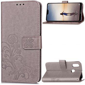 Flip Case for Huawei P20 Lite PU Leahter Back Cover - GRAY