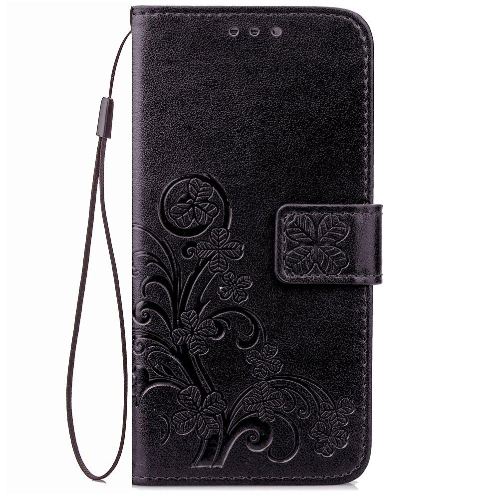 Flip Case for Huawei P20 Lite PU Leahter Back Cover - BLACK