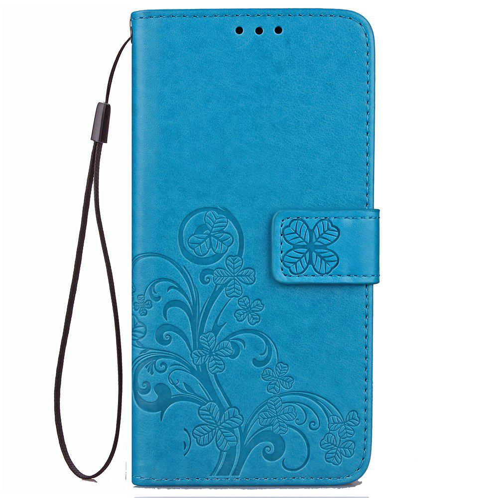 Flip Case for Huawei P20 Lite PU Leahter Back Cover - BLUE