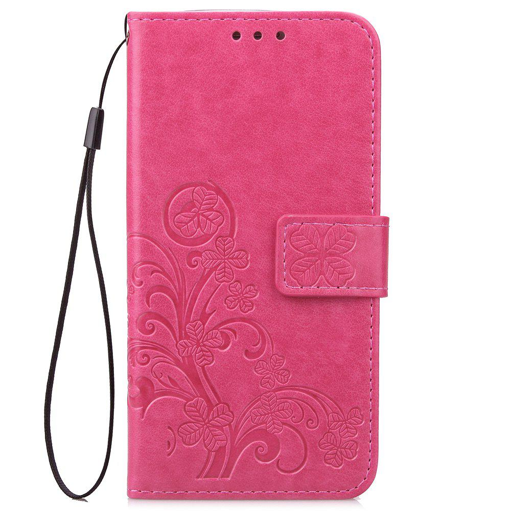 Flip Case for Huawei P20 Lite PU Leahter Back Cover - ROSE RED