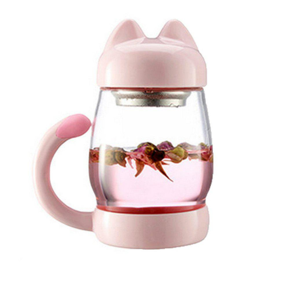 New Cute Cartoon Kitty Cat Mug Glass Cup with Lid Office Creative Student Tea 261587405