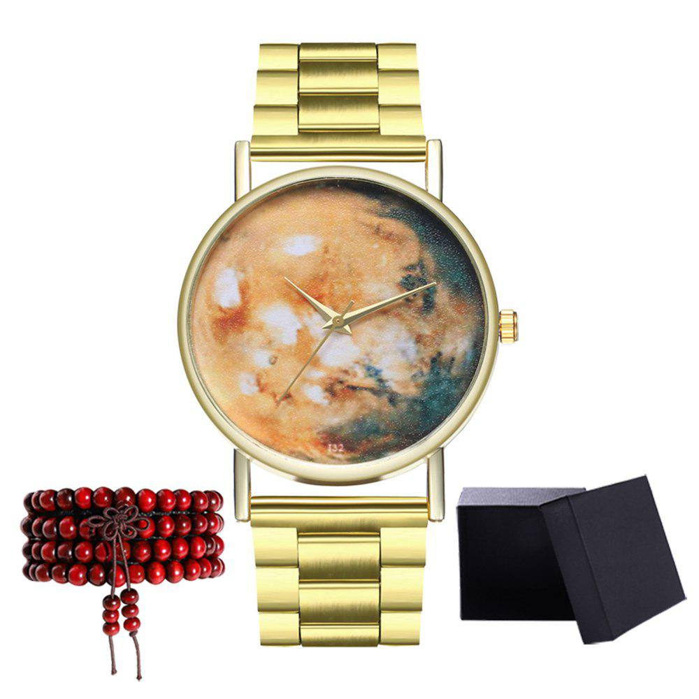Kingou T32 Fashion Cute Pattern Gold Steel Quartz Watch - GOLD