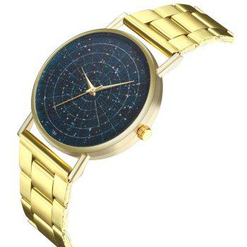 Kingou T36 Fashion Creative Star Pattern Gold Steel Quartz Watch - GOLD