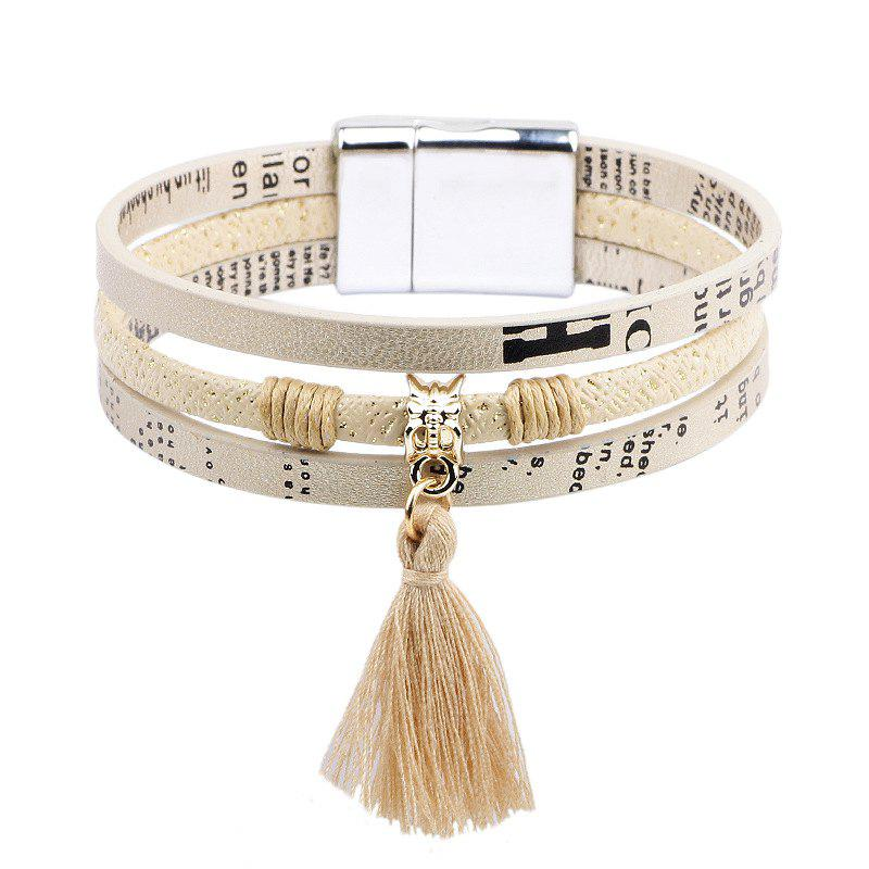 Titanium Steel Magnetic Bracelet Small Fresh Tassels Suspenders Jewelry - WHITE