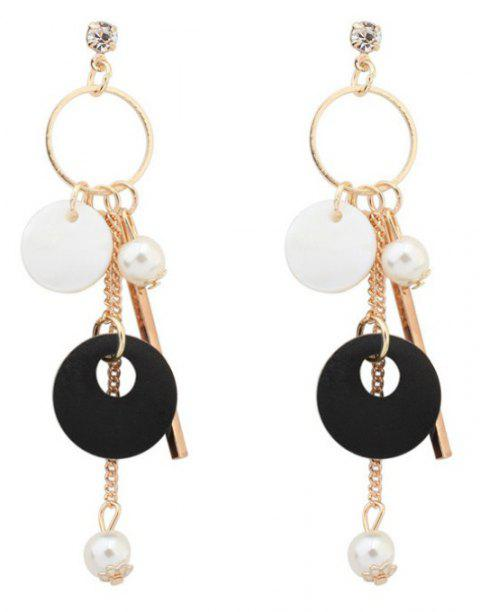 1 Pairs of Pearly Earrings From Tassel Shells - BLACK 8.8X1.6CM