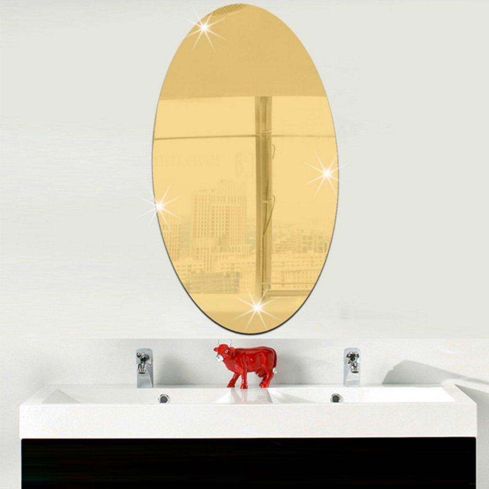 2018 Removable Background Decorative Mirror Wall Sticker GOLD In ...