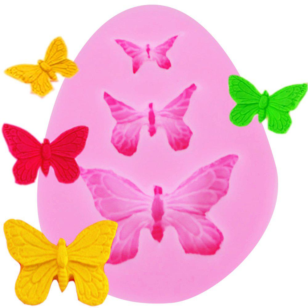 New 3 Butterfly Silicone Cake Chocolate Mold Baking Tools kitchen pastry tools diy white plastic dumpling mold maker