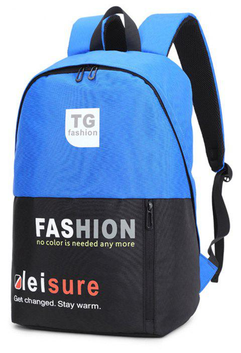 16-INCH Waterproof Computer College Business Shoulder Bag - BLUE