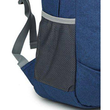 High Capacity Oxford Travel Leisure Student Portable Backpack - ROYAL BLUE