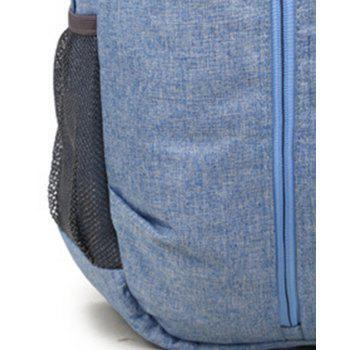 High Capacity Oxford Travel Leisure Student Portable Backpack - LIGHT BLUE