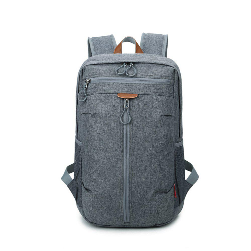 High Capacity Oxford Travel Leisure Student Portable Backpack - SLATE GRAY