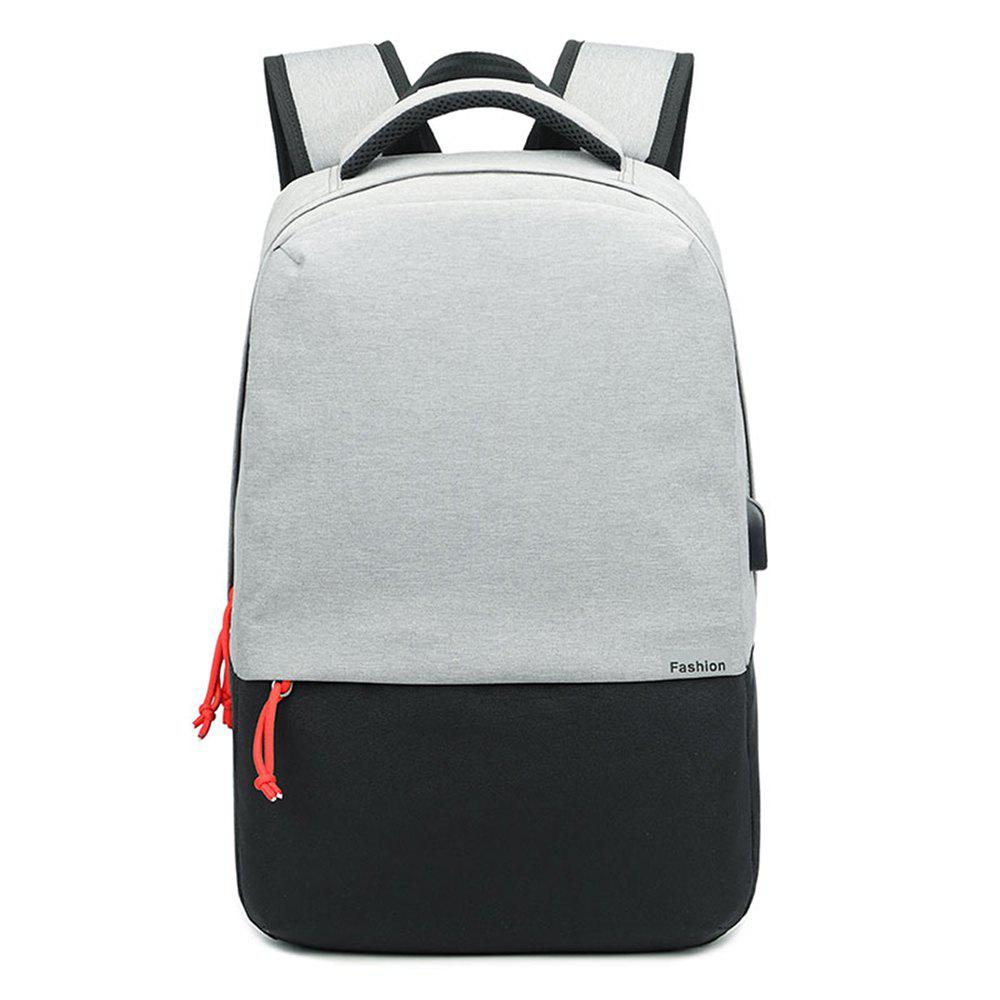 Shoulders Fashion Computer Charging Travel Business Travel Backpack - LIGHT GRAY