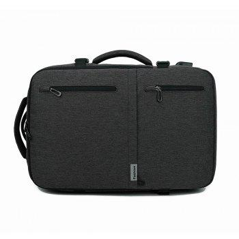 New Fashion Oxford Brass Business Multifunction Shoulder Bag - BLACK