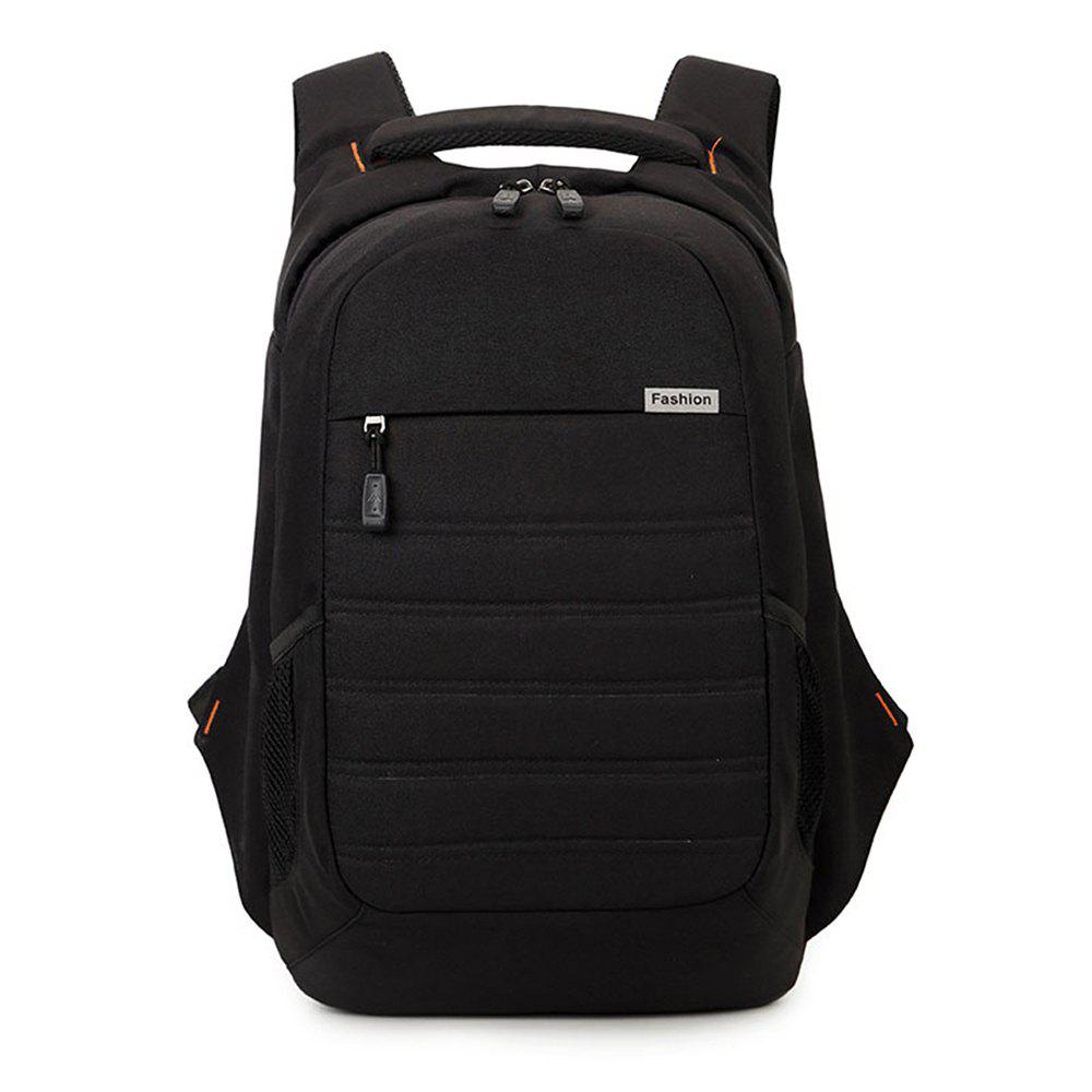 Student Tide Large Capacity Oxford Cloth Travel Leisure Portable Backpack - BLACK
