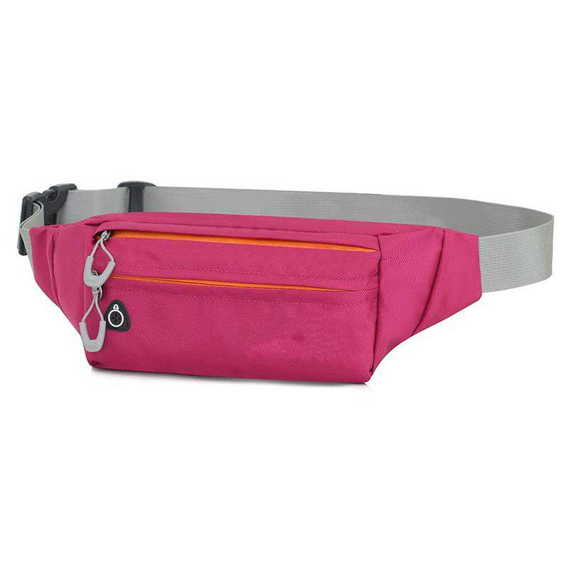 Multi-function Breath Waist Bag for Outdoor Sports Mountaineering Running - BURNT PINK