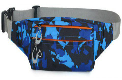 Camouflage Breath Waist Bag for Outdoor Sports Mountaineering Running - WINDOWS BLUE