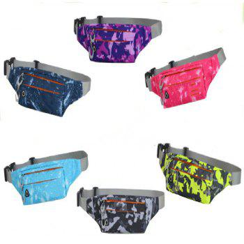 Camouflage Breath Waist Bag for Outdoor Sports Mountaineering Running - PURPLE
